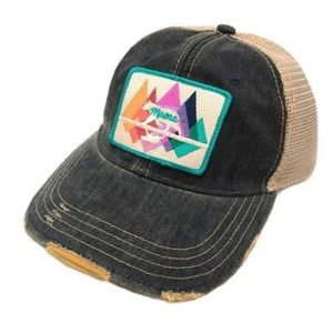 Judith March Mama Bear Mountains Patch Hat Cap NEW